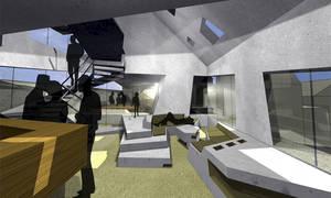 Geschoss 01: Innenraum Lounge   Küche