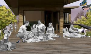 Collage Blick zu Terrasse 01